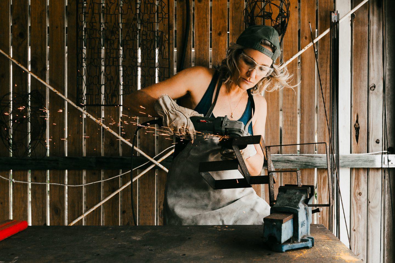 Sculptural welding.